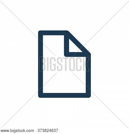 file icon isolated on white background from user interface collection. file icon trendy and modern f