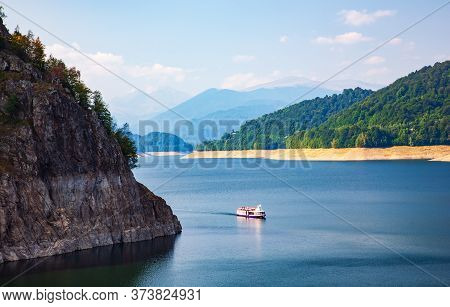 Pictures Of The Fagaras Mountain. Carpathians. Romania. A Beautiful Landscape With The Vidra Lake. A