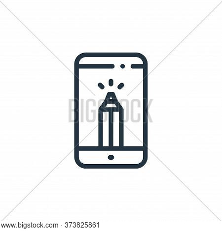 smartphone icon isolated on white background from design thinking collection. smartphone icon trendy