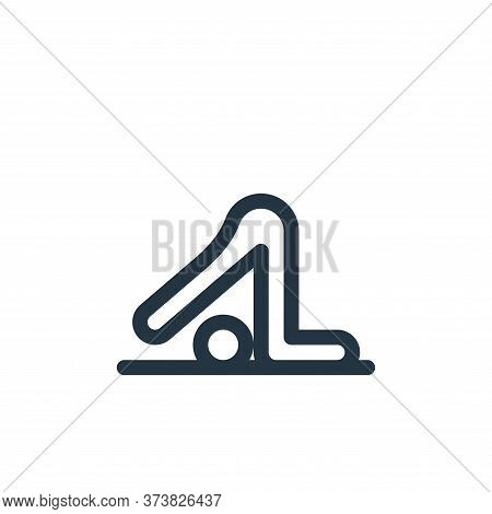 yoga icon isolated on white background from pilates collection. yoga icon trendy and modern yoga sym