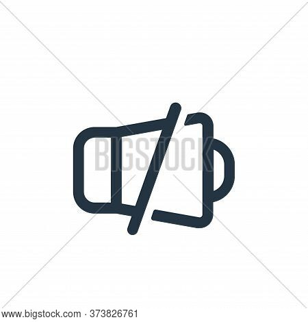 mute icon isolated on white background from device collection. mute icon trendy and modern mute symb