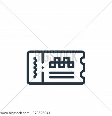 ticket icon isolated on white background from taxi service collection. ticket icon trendy and modern