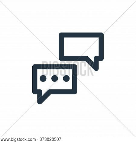 chats icon isolated on white background from marketing business collection. chats icon trendy and mo