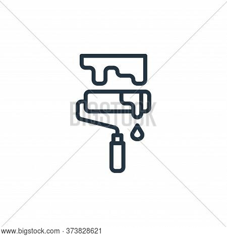 paint roller icon isolated on white background from graphic design collection. paint roller icon tre