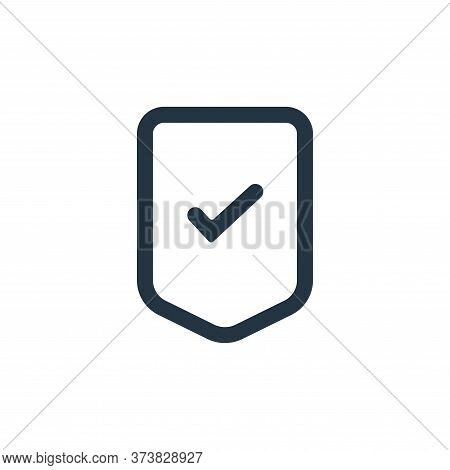 security icon isolated on white background from interface collection. security icon trendy and moder