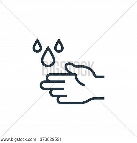 hand wash icon isolated on white background from pandemic novel virus collection. hand wash icon tre