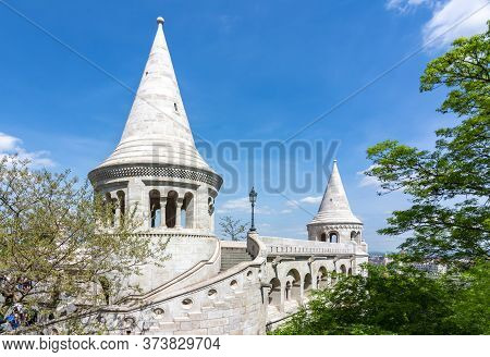 Fisherman Bastion In Budapest In Spring, Hungary