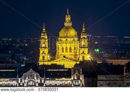 St. Stephen's Basilica At Night, Budapest, Hungary