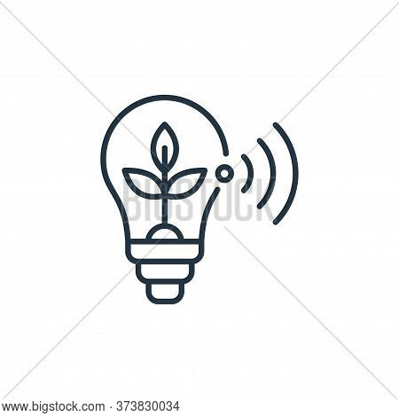 bulb icon isolated on white background from smart farm collection. bulb icon trendy and modern bulb