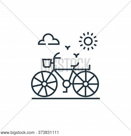 bicycle icon isolated on white background from environment and eco collection. bicycle icon trendy a