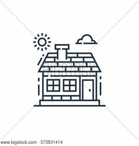 house icon isolated on white background from environment and eco collection. house icon trendy and m