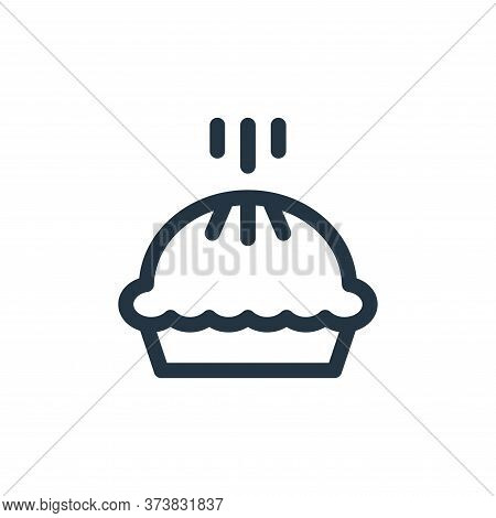 pie icon isolated on white background from england collection. pie icon trendy and modern pie symbol