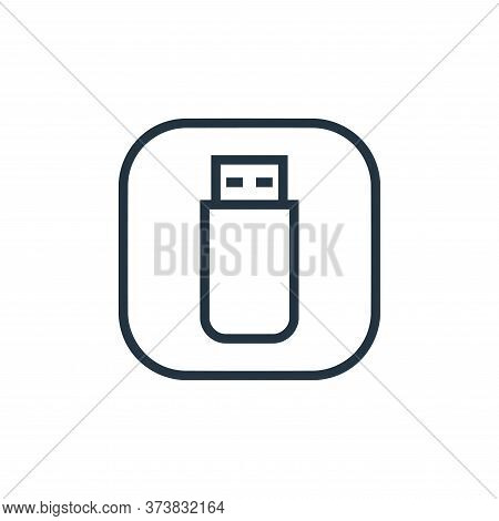 usb drive icon isolated on white background from hardware and gadgets collection. usb drive icon tre