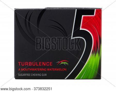 Bucharest, Romania - March 26, 2016. 5 Turbulence, A Mouthwatering Watermelon, Sugarfree Chewing Gum