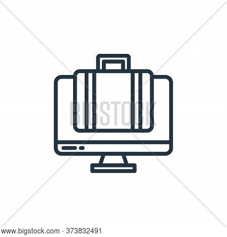 working icon isolated on white background from stay at home collection. working icon trendy and mode