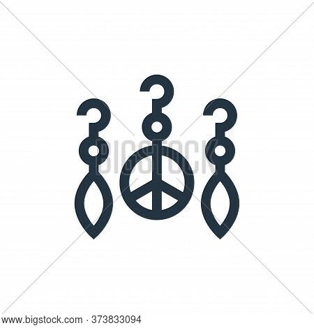 earrings icon isolated on white background from hippies collection. earrings icon trendy and modern