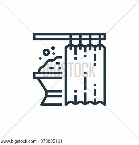 shower curtains icon isolated on white background from recycling collection. shower curtains icon tr