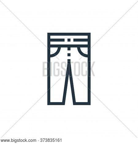 trousers icon isolated on white background from clothes and apparel collection. trousers icon trendy