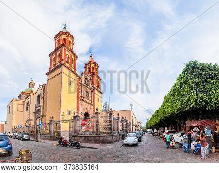 Santiago De Queretaro, Queretaro, Mexico - November 24, 2019: The Church Congregación De Nuestra Señ