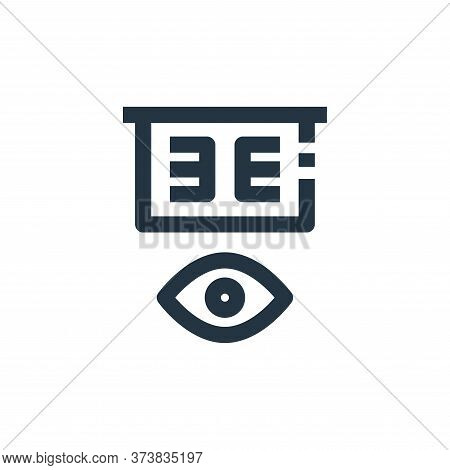 eye test icon isolated on white background from medical collection. eye test icon trendy and modern