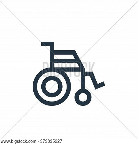 wheelchair icon isolated on white background from insurance collection. wheelchair icon trendy and m