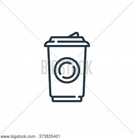 coffee cup icon isolated on white background from mall collection. coffee cup icon trendy and modern