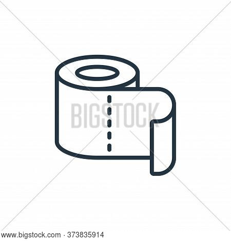 toilet roll icon isolated on white background from hygiene collection. toilet roll icon trendy and m