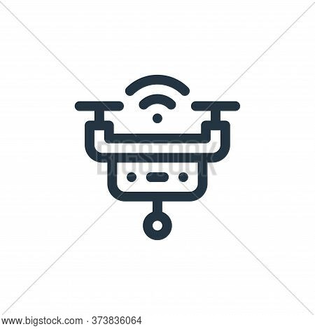 smart drone icon isolated on white background from internet of things collection. smart drone icon t