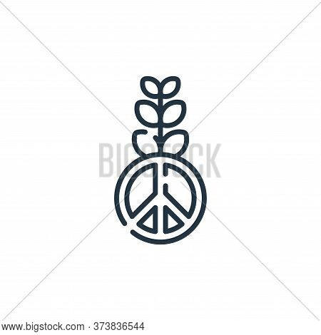 peace icon isolated on white background from hope collection. peace icon trendy and modern peace sym