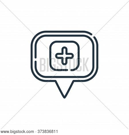 hospital icon isolated on white background from navigation and maps collection. hospital icon trendy