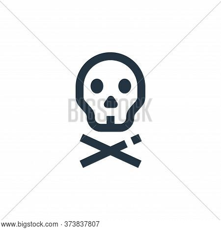 skull icon isolated on white background from medical collection. skull icon trendy and modern skull