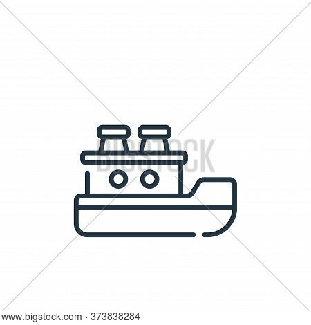 ship icon isolated on white background from children toys collection. ship icon trendy and modern sh