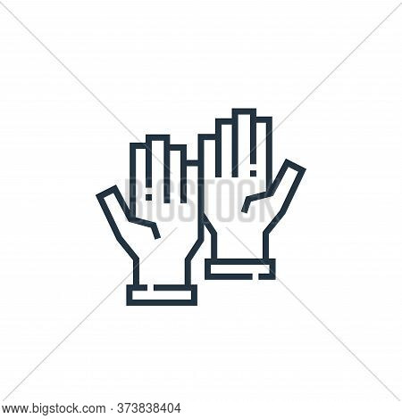 rubber gloves icon isolated on white background from medical services collection. rubber gloves icon