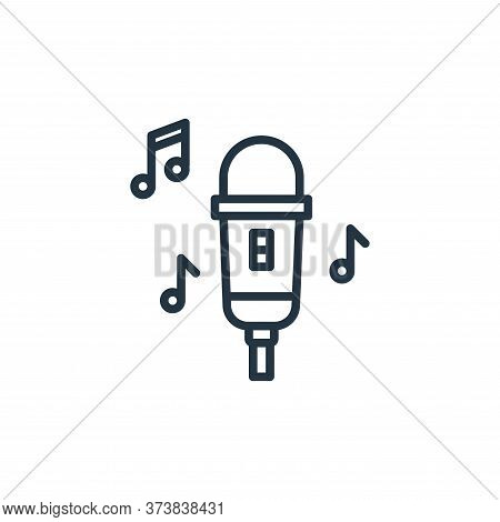 microphone icon isolated on white background from stay at home collection. microphone icon trendy an