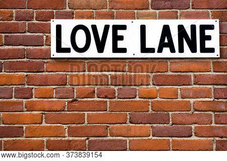 Love Lane Street In Brooklyn Heights Neighborhood, New York City, Usa