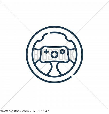 steering wheel icon isolated on white background from videogame collection. steering wheel icon tren