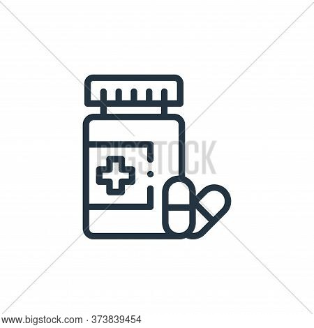 antibiotic icon isolated on white background from medicine collection. antibiotic icon trendy and mo