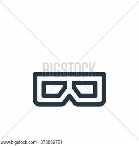 d glasses icon isolated on white background from virtual reality collection. d glasses icon trendy a