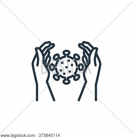 protection icon isolated on white background from washing hand collection. protection icon trendy an