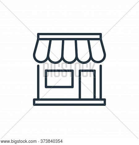 shopping store icon isolated on white background from ecommerce collection. shopping store icon tren
