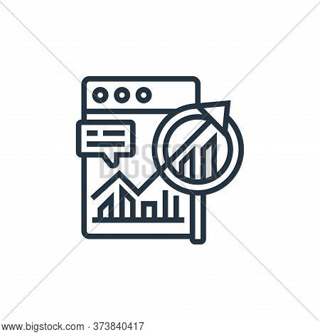 long term planning icon isolated on white background from digital transformation collection. long te
