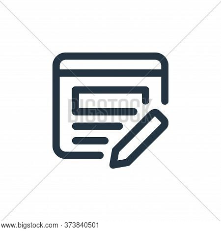 edit icon isolated on white background from web apps seo collection. edit icon trendy and modern edi