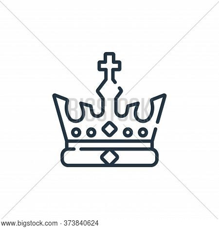 crown icon isolated on white background from england collection. crown icon trendy and modern crown