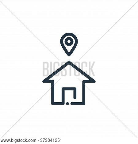 address icon isolated on white background from ricon collection. address icon trendy and modern addr