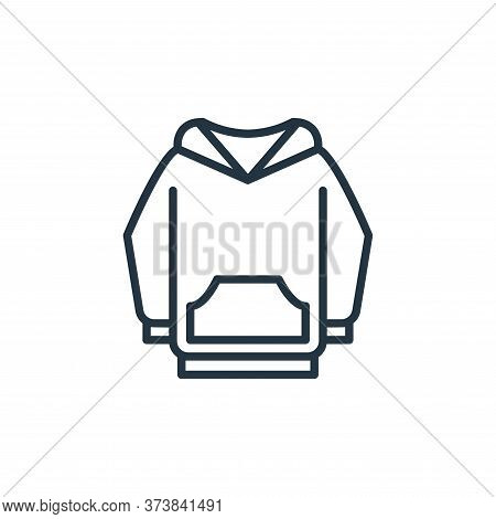 hoodie icon isolated on white background from wardrobe collection. hoodie icon trendy and modern hoo