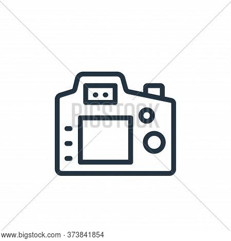 camera icon isolated on white background from photography collection. camera icon trendy and modern