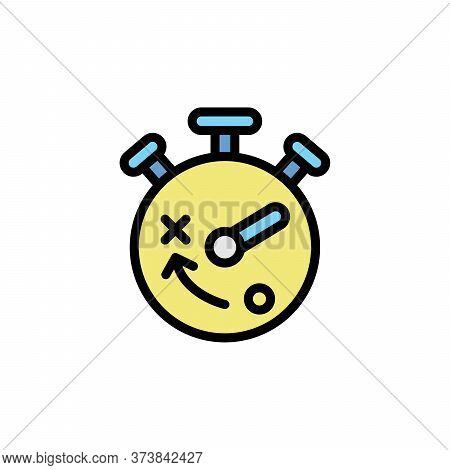 Stopwatch Colored Icon. Simple Color Element Illustration. Stopwatch Concept Outline Symbol Design F