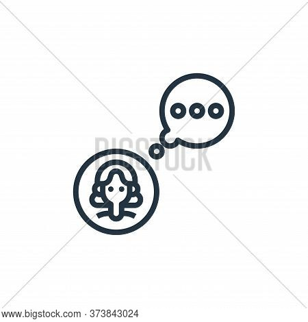chat icon isolated on white background from user experience collection. chat icon trendy and modern