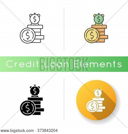 Deposit Icon. Financial Asset. Income From Business. Bank Savings. Monetary Gain During Time. Growth