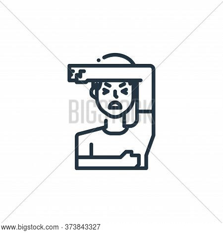 sick icon isolated on white background from virus transmission collection. sick icon trendy and mode
